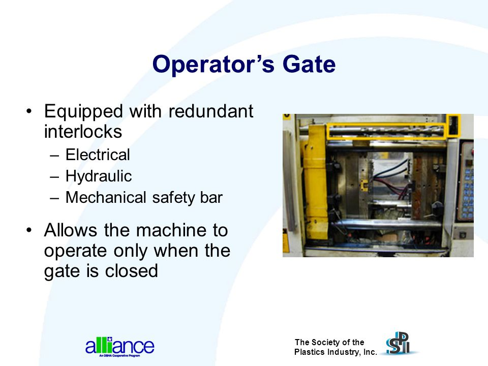 Operator's Gate Equipped with redundant interlocks