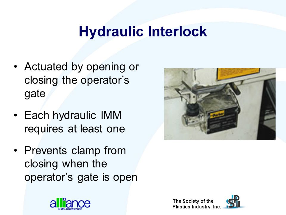 Hydraulic Interlock Actuated by opening or closing the operator's gate
