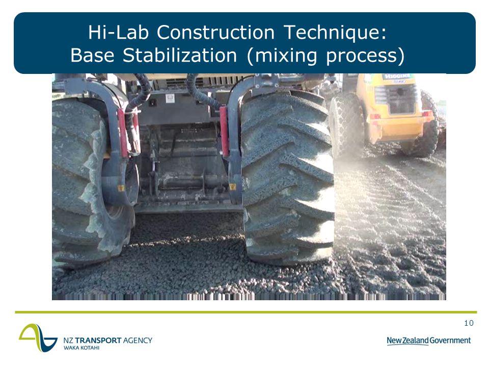 Hi-Lab Construction Technique: Base Stabilization (mixing process)