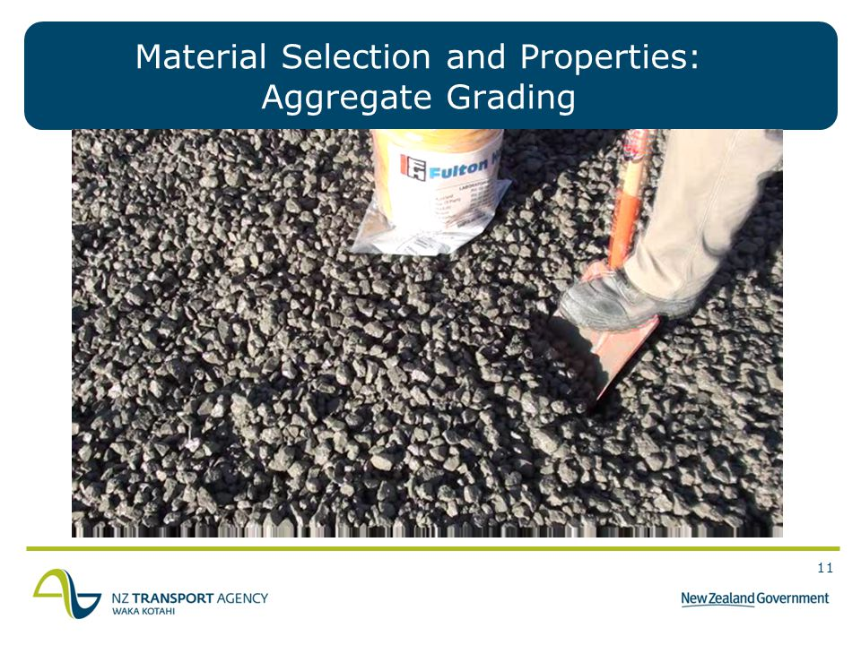 Material Selection and Properties: Aggregate Grading