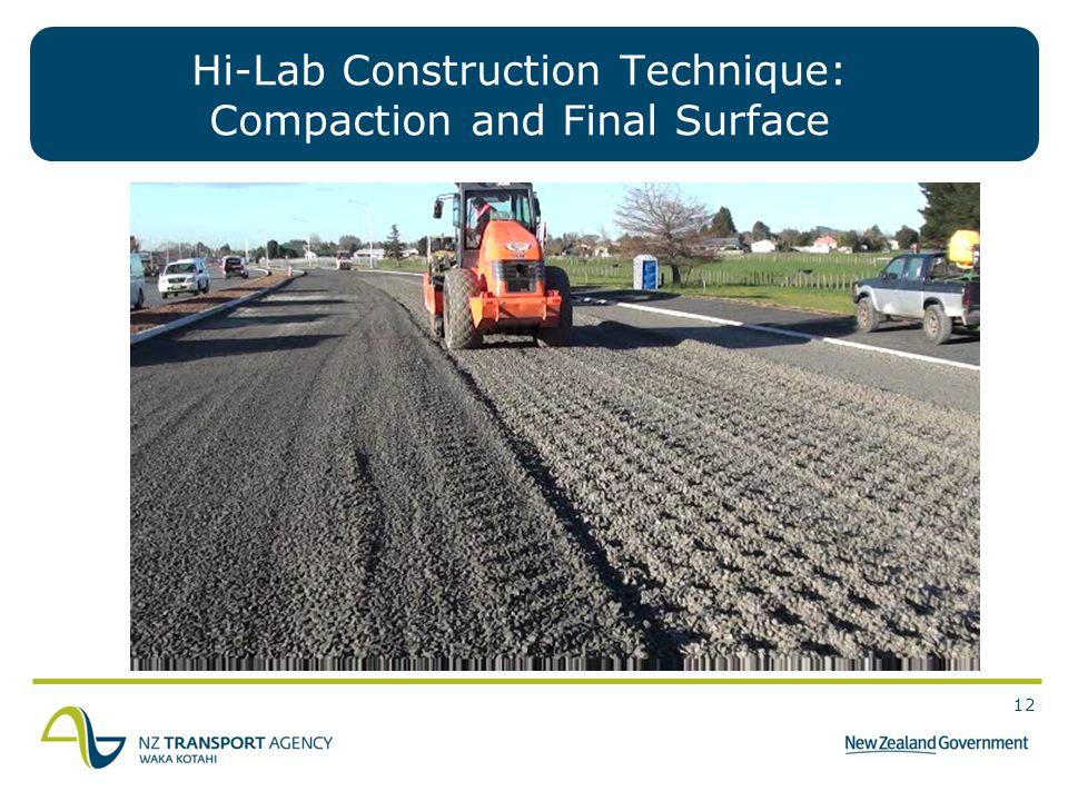 Hi-Lab Construction Technique: Compaction and Final Surface