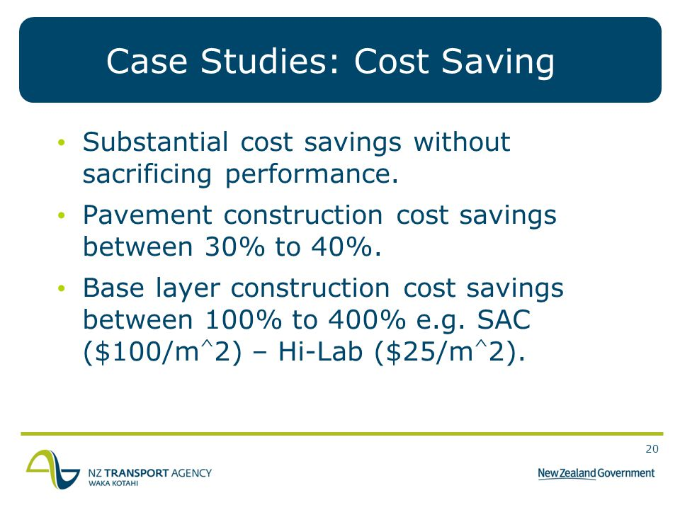 Case Studies: Cost Saving