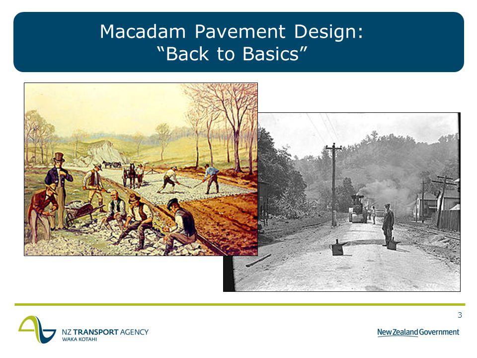 Macadam Pavement Design: Back to Basics