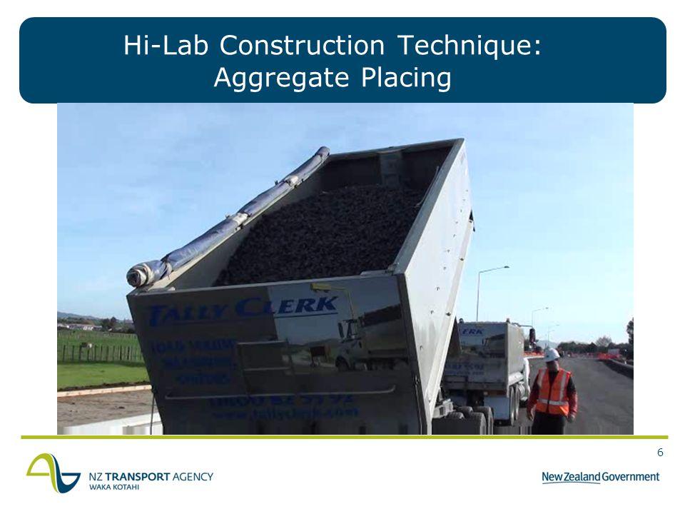 Hi-Lab Construction Technique: Aggregate Placing
