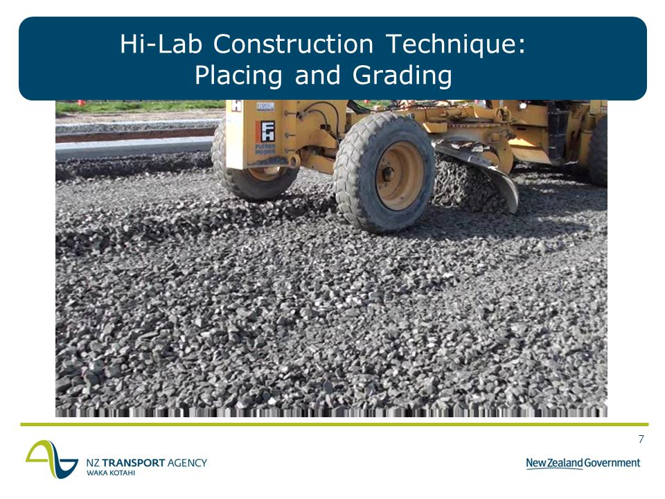 Hi-Lab Construction Technique: Placing and Grading
