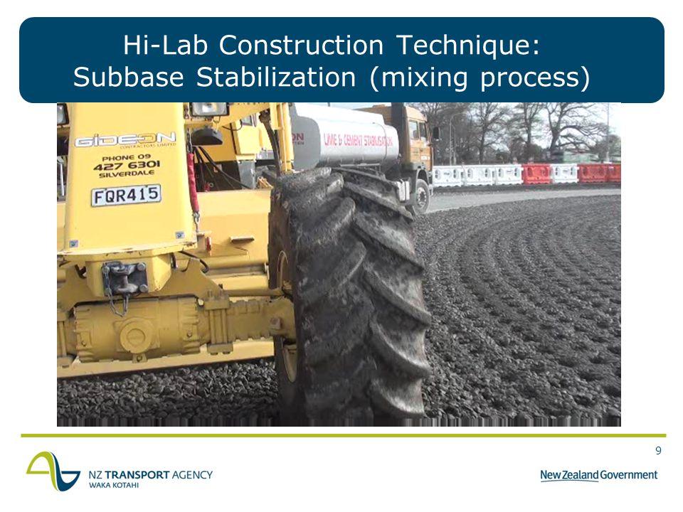 Hi-Lab Construction Technique: Subbase Stabilization (mixing process)