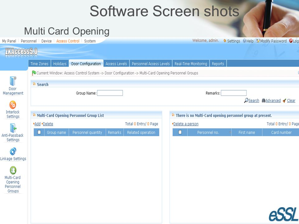 Software Screen shots Multi Card Opening
