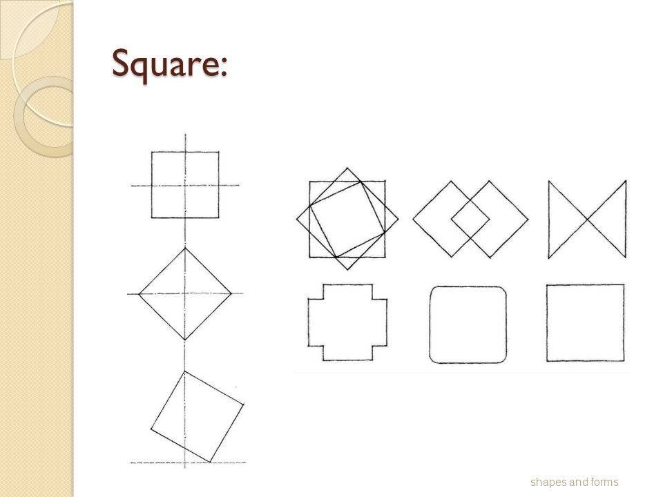 Square: shapes and forms