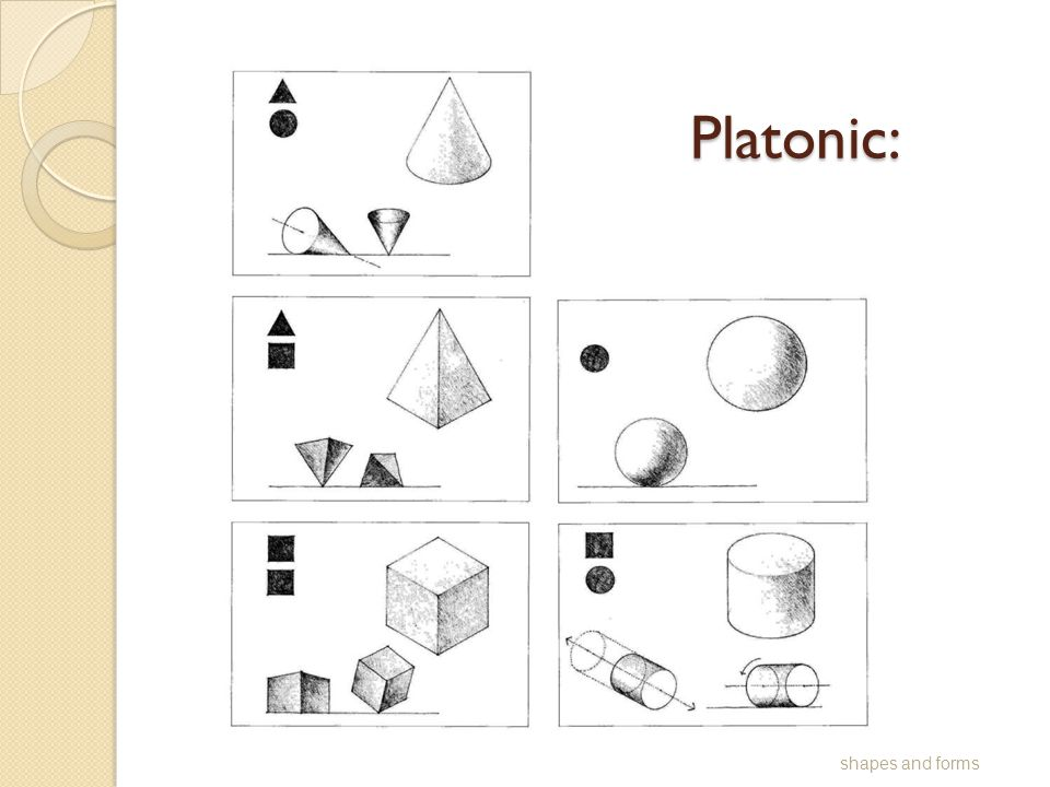 Platonic: shapes and forms