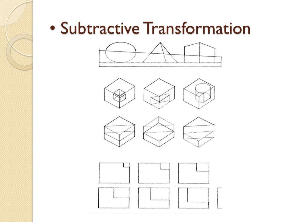 Subtractive Transformation