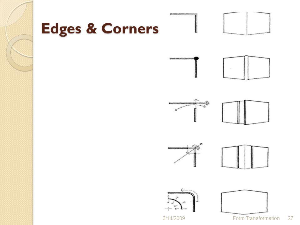 Edges & Corners 3/14/2009 Form Transformation