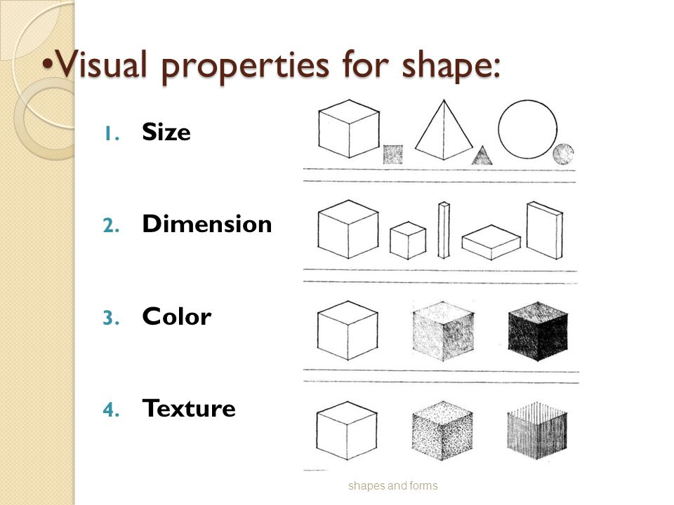 Visual properties for shape: