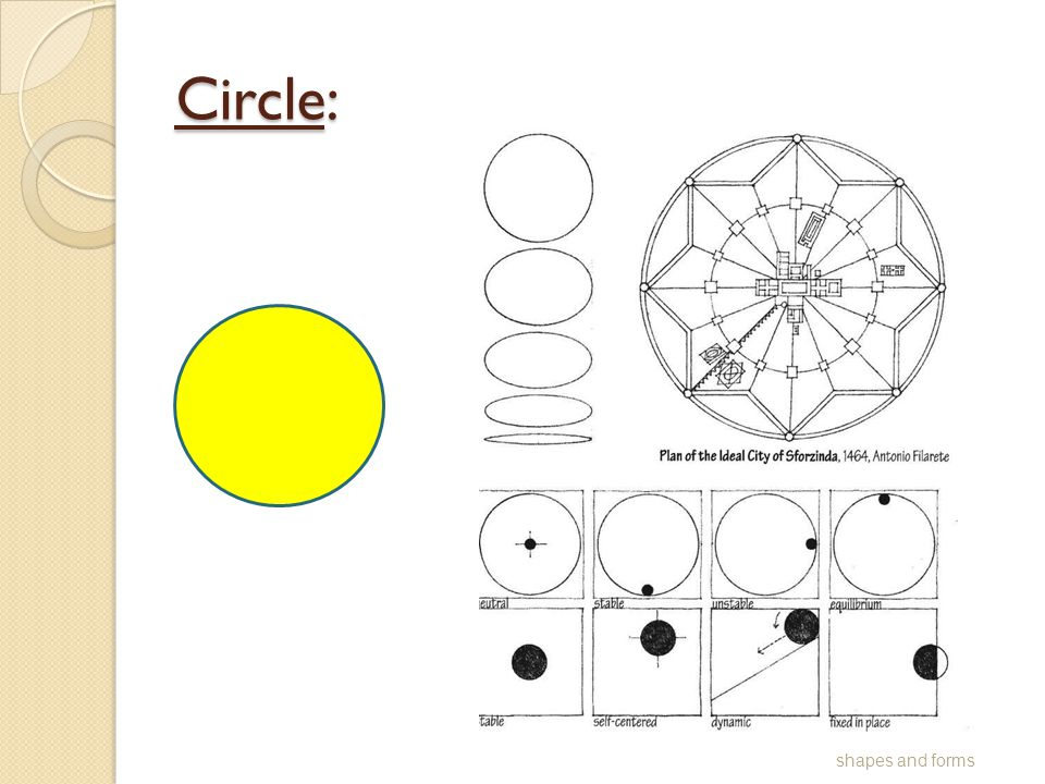Circle: shapes and forms