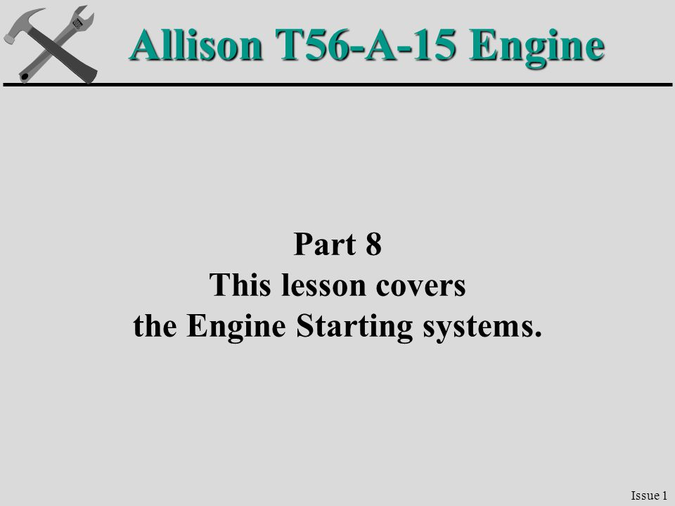 the Engine Starting systems.