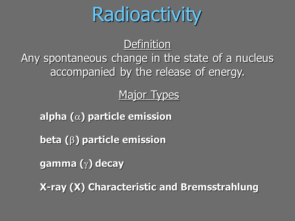 Radioactivity Definition