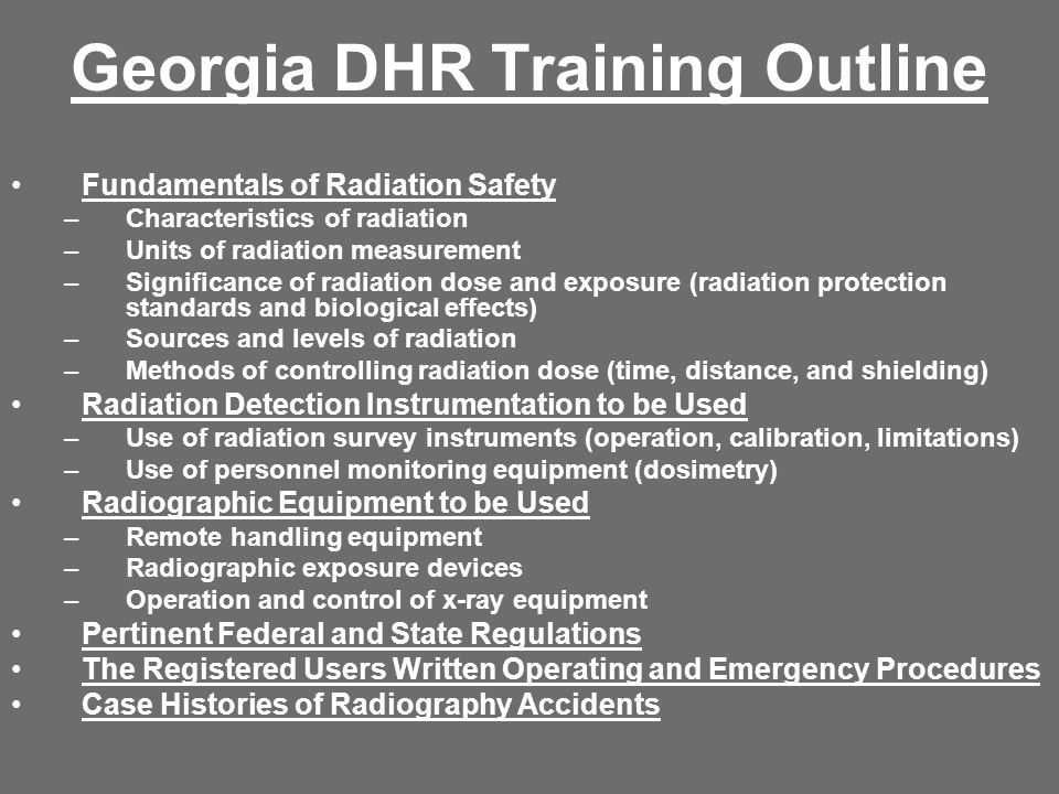 Georgia DHR Training Outline