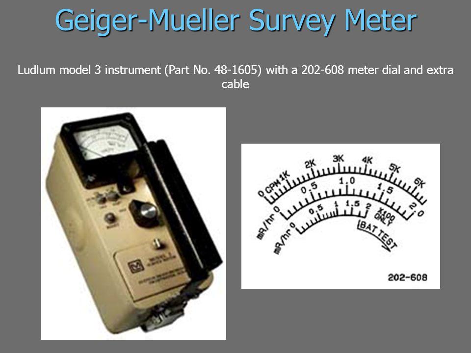 Geiger-Mueller Survey Meter