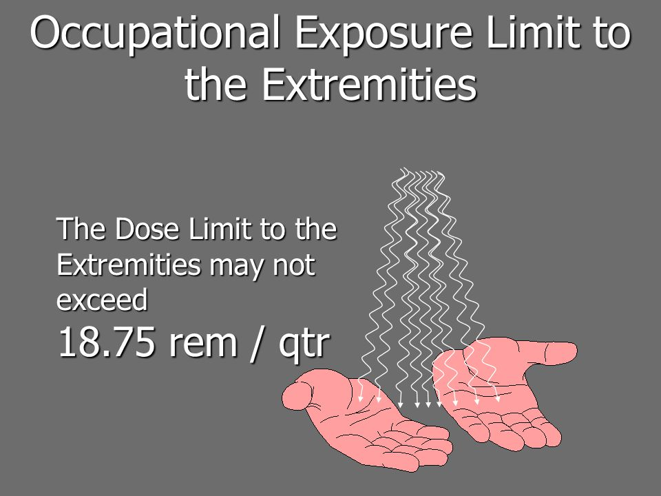 Occupational Exposure Limit to the Extremities