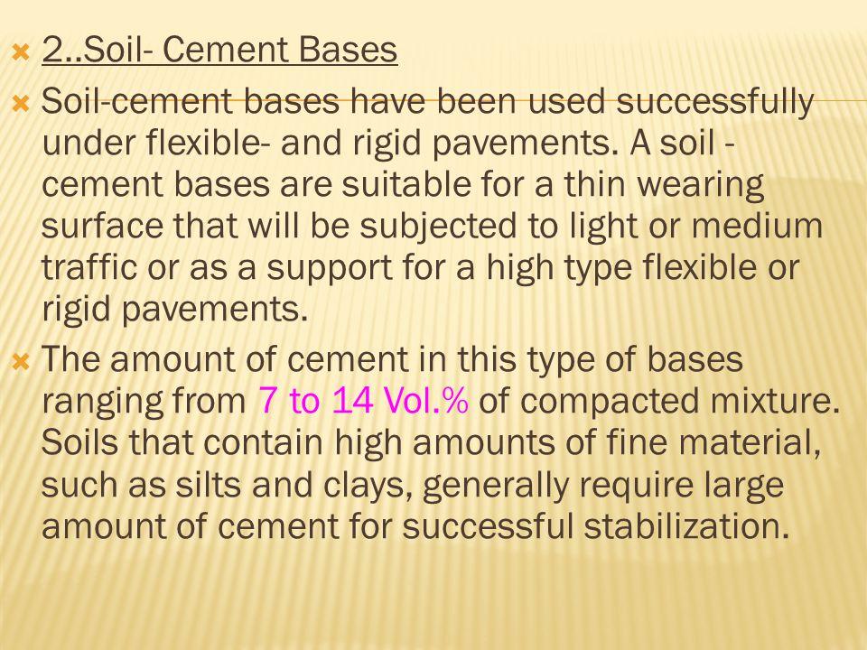 2..Soil- Cement Bases