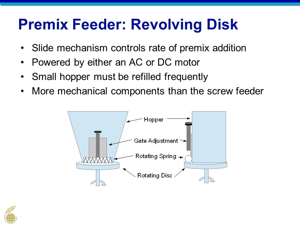 Premix Feeder: Revolving Disk