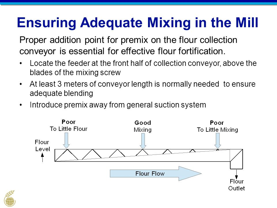 Ensuring Adequate Mixing in the Mill