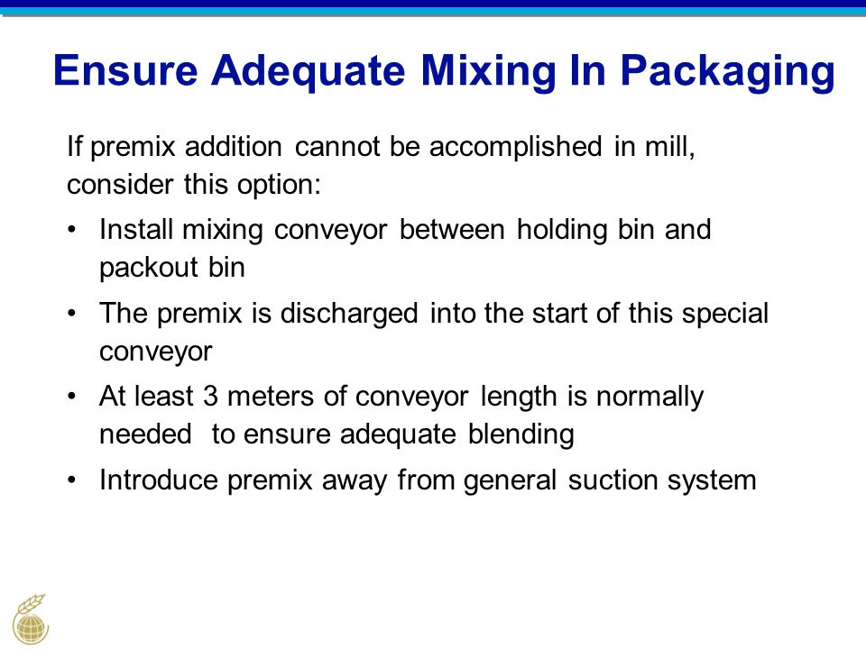 Ensure Adequate Mixing In Packaging