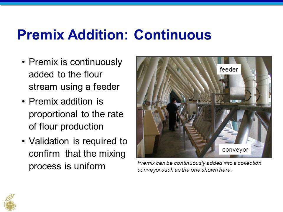 Premix Addition: Continuous