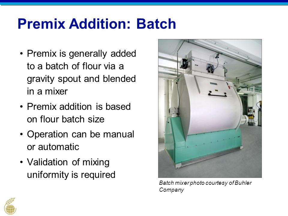 Premix Addition: Batch