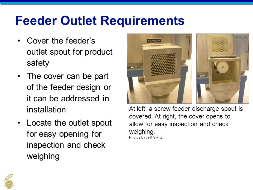 Feeder Outlet Requirements