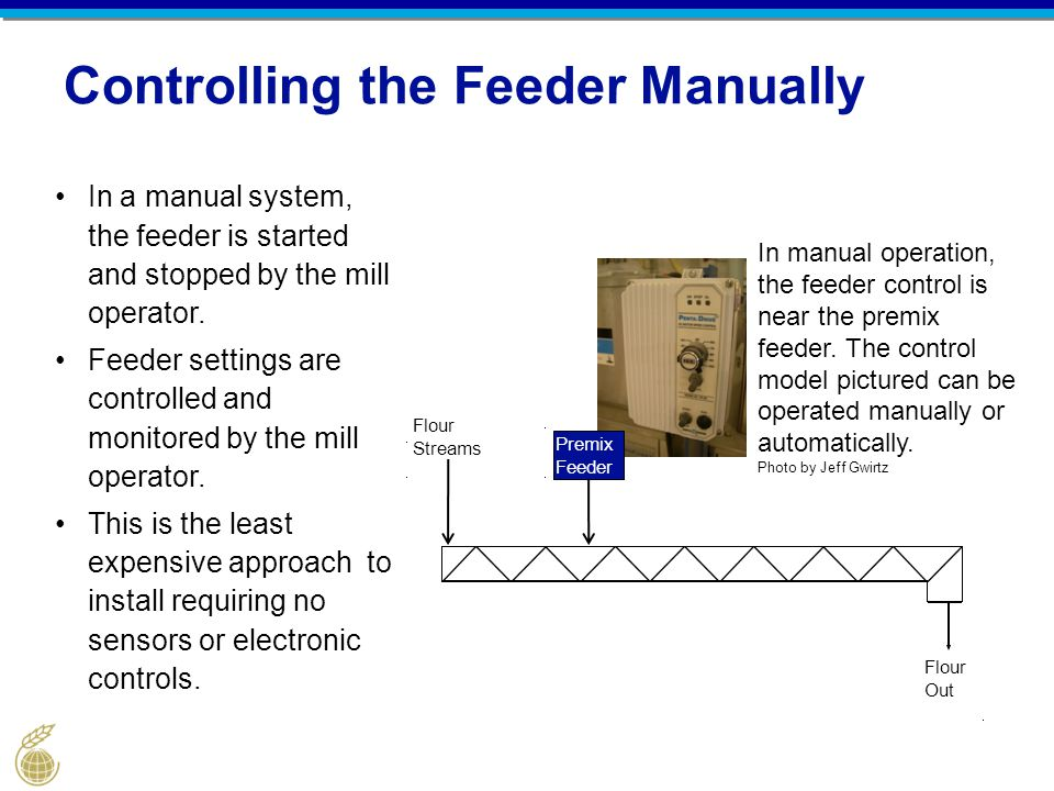 Controlling the Feeder Manually