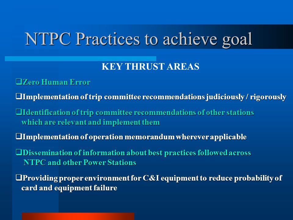 NTPC Practices to achieve goal