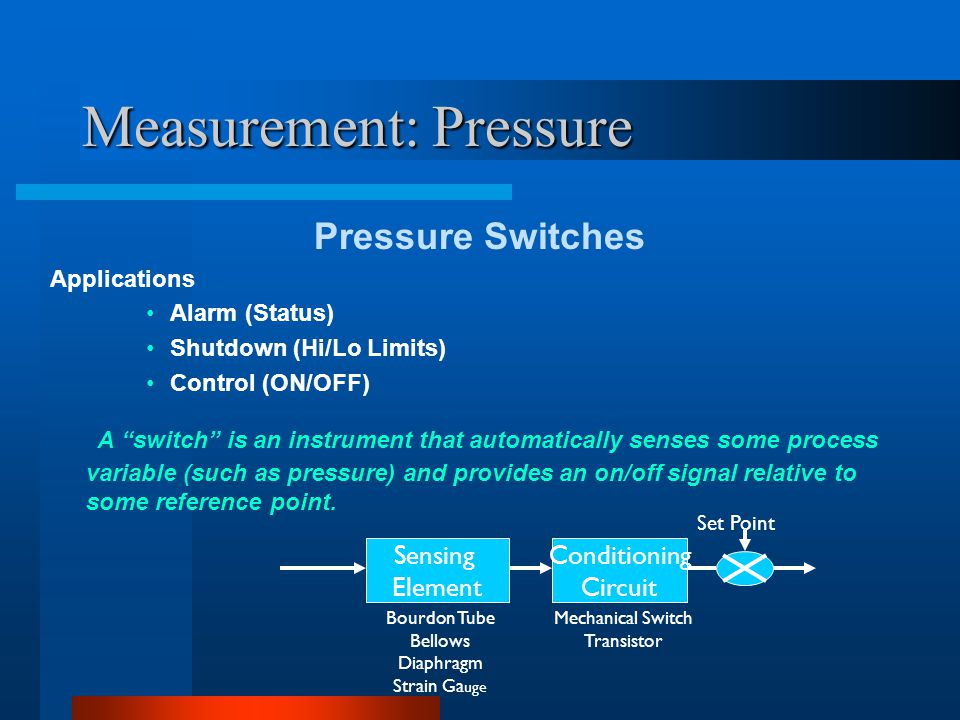 Measurement: Pressure