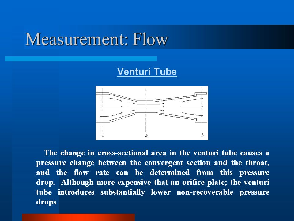 Measurement: Flow Venturi Tube