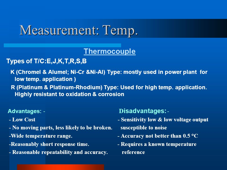 Measurement: Temp. Thermocouple