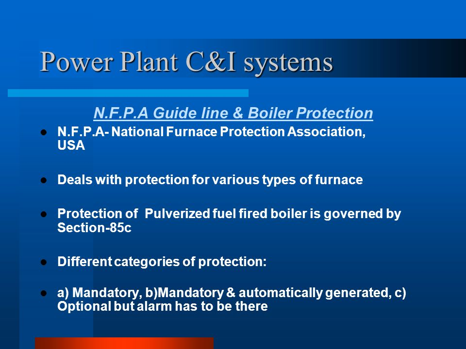Power Plant C&I systems