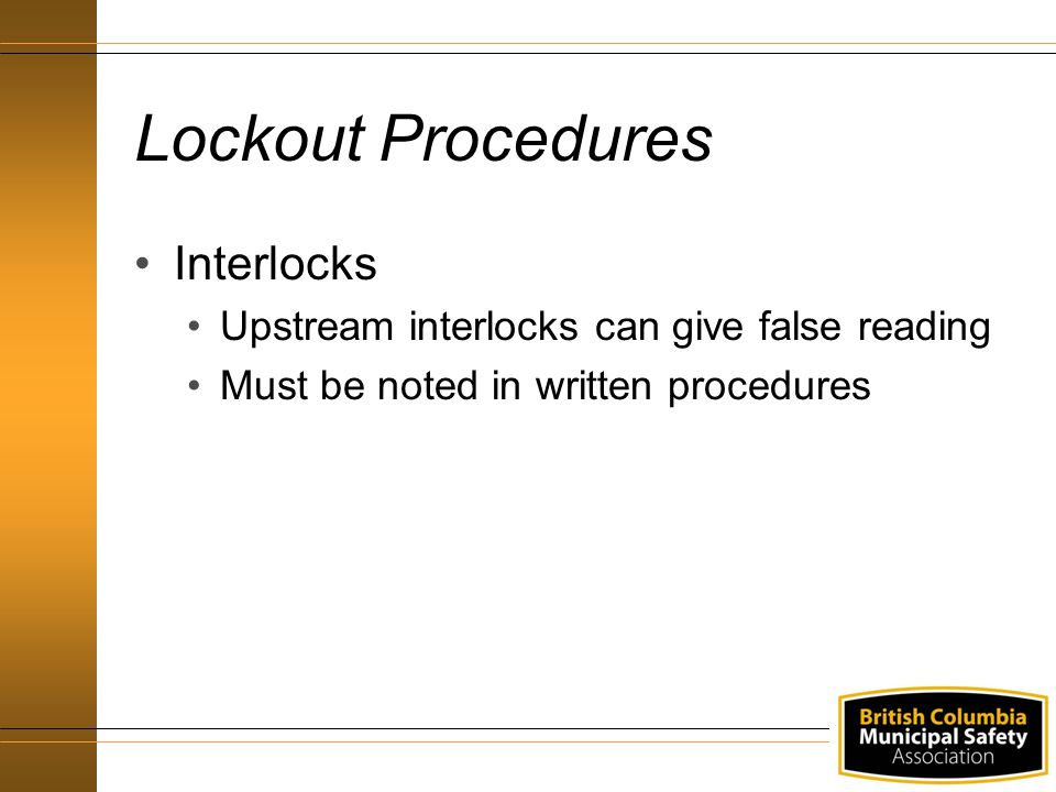 Lockout Procedures Interlocks