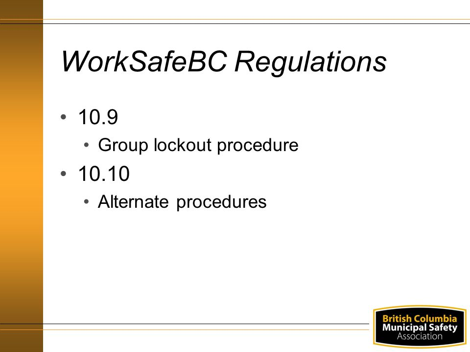 WorkSafeBC Regulations