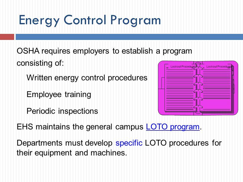 Energy Control Program