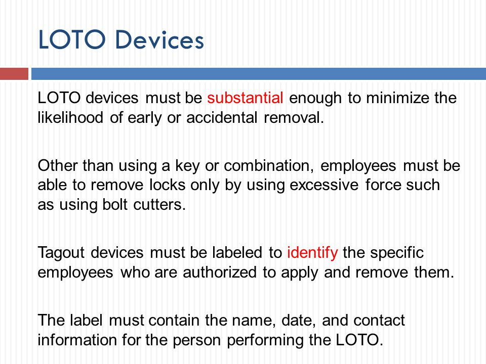LOTO Devices