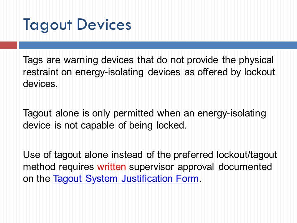 Tagout Devices