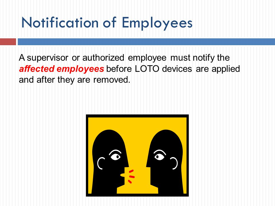 Notification of Employees
