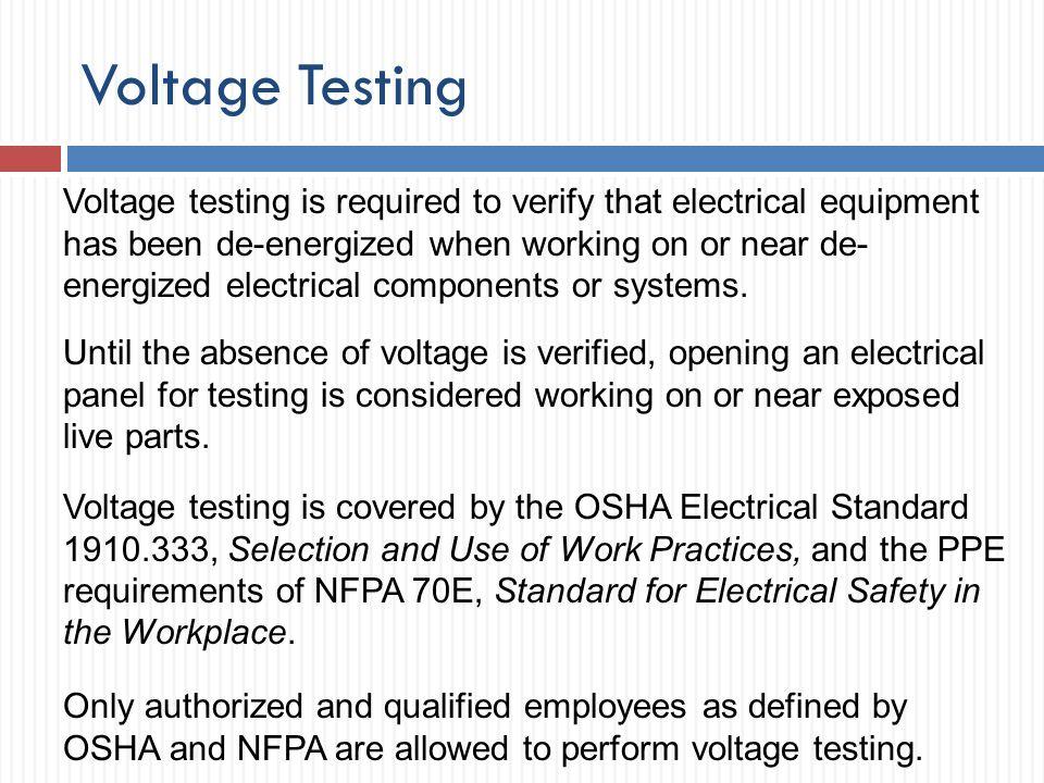 Voltage Testing