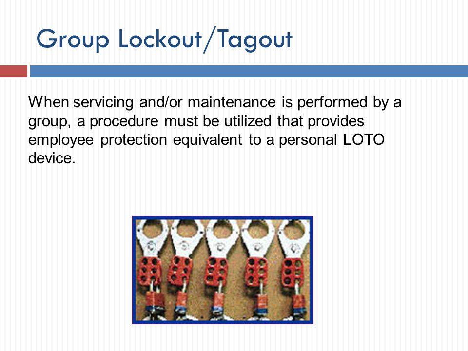 Group Lockout/Tagout