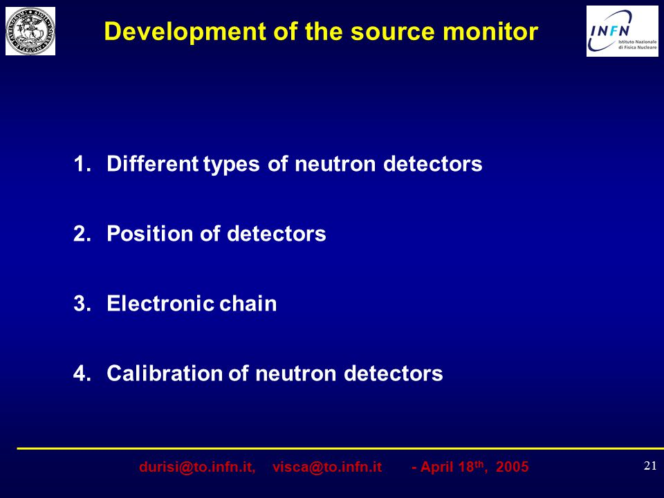 Development of the source monitor