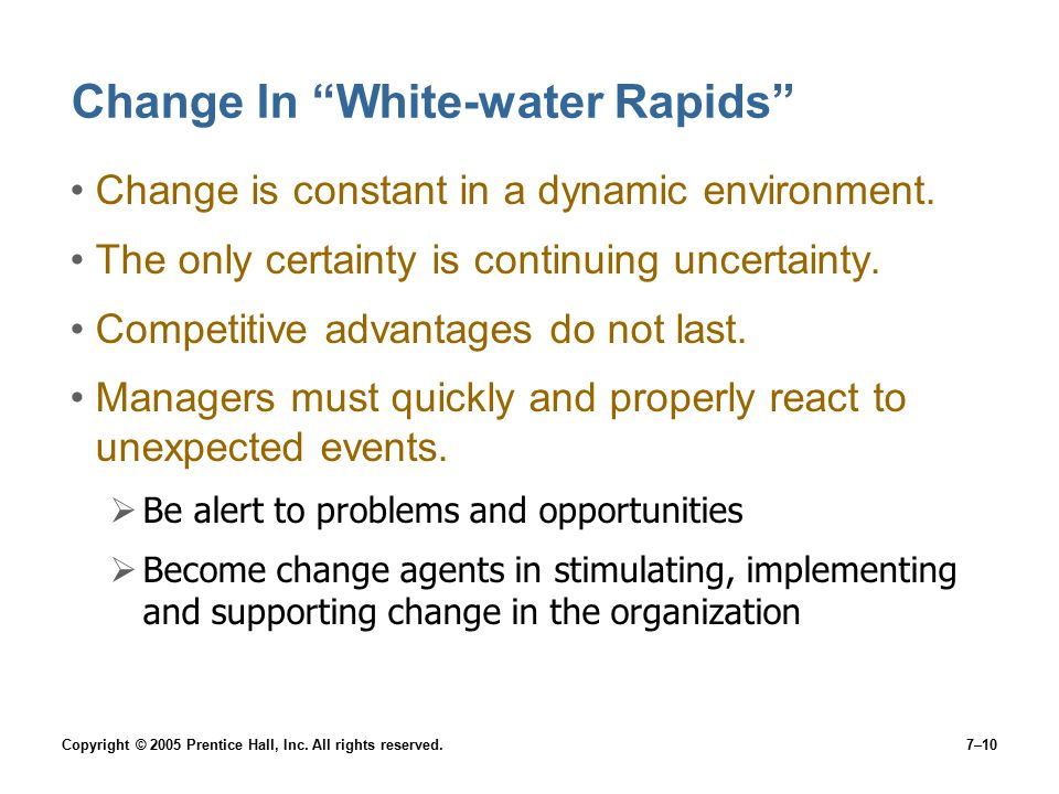 Change In White-water Rapids