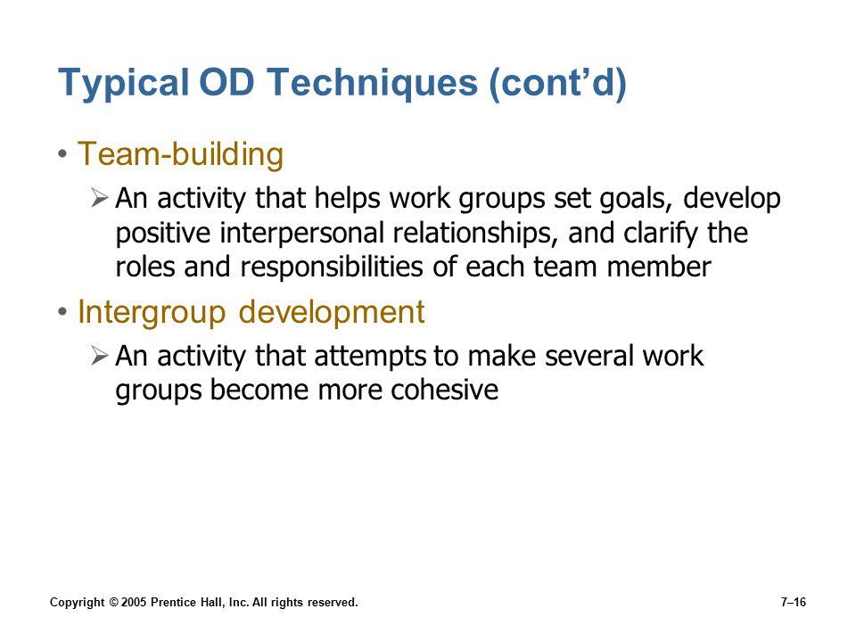 Typical OD Techniques (cont'd)