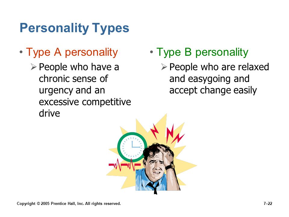 Personality Types Type A personality Type B personality