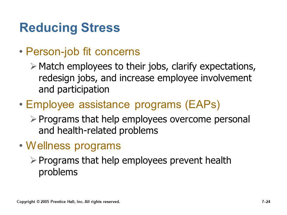 Reducing Stress Person-job fit concerns