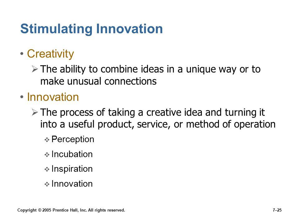 Stimulating Innovation