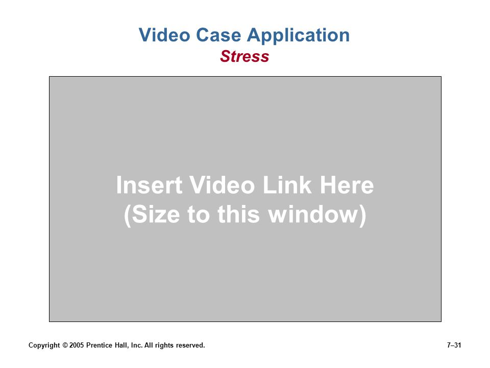 Video Case Application Stress
